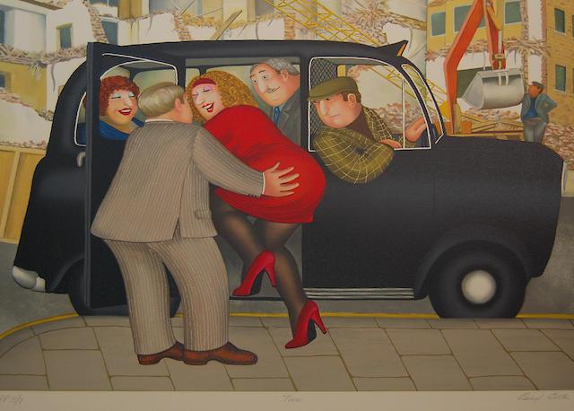Beryl Cook (British, 1926-2008) 'Taxi',