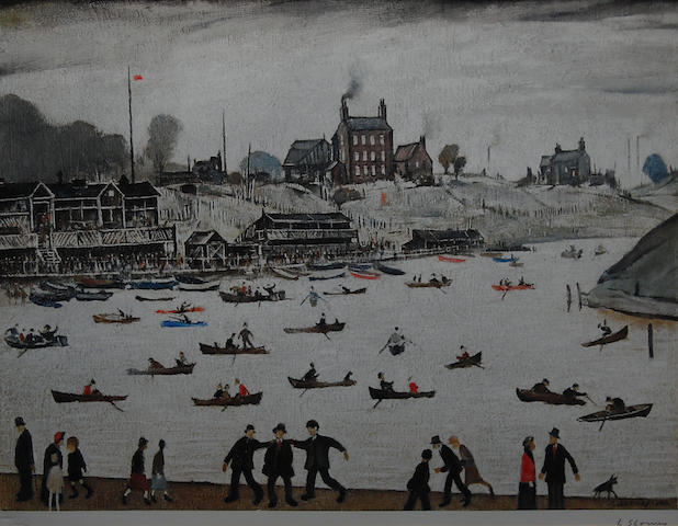 Laurence Stephen Lowry, R.A. (British, 1887-1976) 'Crime Lake',