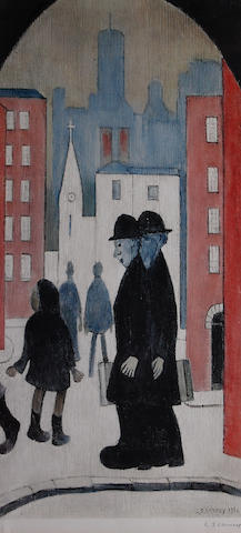 Laurence Stephen Lowry, R.A. (British, 1887-1976) 'Two Brothers',