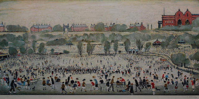 Laurence Stephen Lowry R.A. (British, 1887-1976) 'Peel Park',