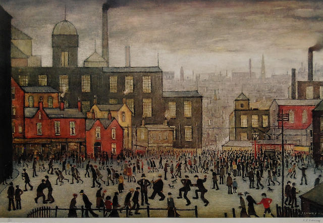 Laurence Stephen Lowry, R.A. (British, 1887-1976) 'Our Town',