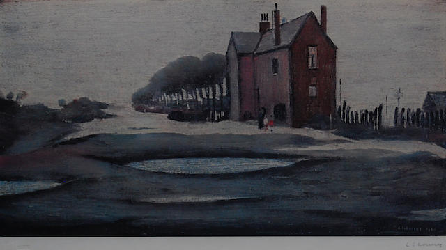 Laurence Stephen Lowry, R.A. (British, 1887-1976) 'The Lonely House',