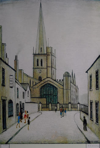 Laurence Stephen Lowry, R.A. (British, 1887-1976) 'Burford Church',