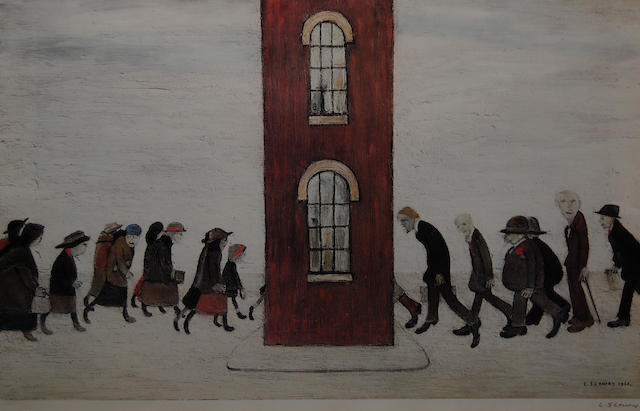 Laurence Stephen Lowry, R.A. (British, 1887-1976) 'Meeting Point',