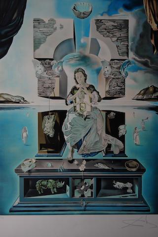 Salvador Dali (Spanish, 1904-1989) 'Crucifixion, (Corpus Hypercubus)',