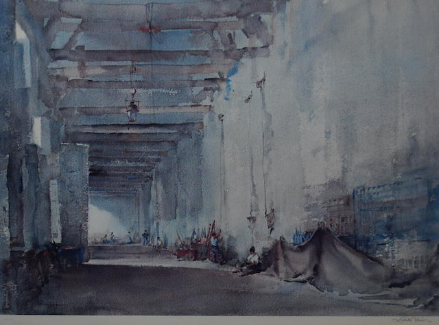 Sir William Russell Flint (Scottish, 1880-1969) 'White Interior, Chateauneuf-sur-Loire',