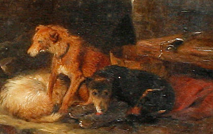 Follower of George Armfield (British, 1810-1893) Deerhounds at rest