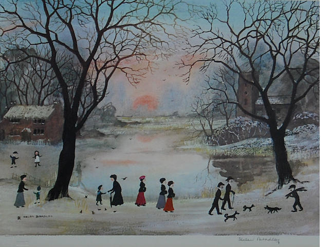 Helen Bradley (British, 1900-1979) 'On a Beautiful Winters Day',