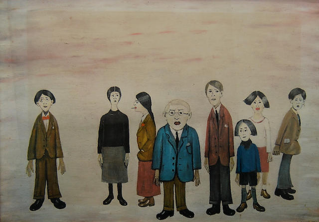 Laurence Stephen Lowry R.A. (British, 1887-1976) 'His Family',
