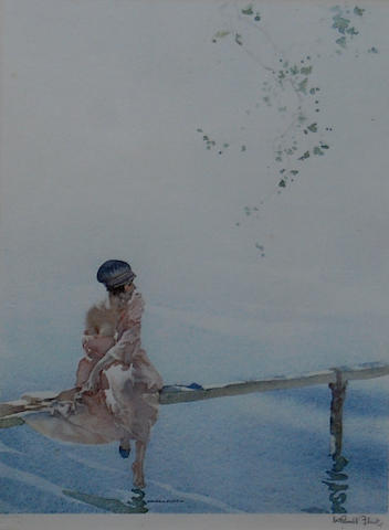 Sir William Russell Flint R.A., P.R.W.S. (British, 1880-1969) 'Phillida', and 'Clarissa Fishing', a pair,