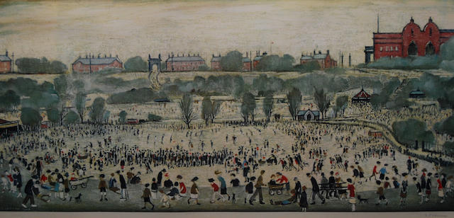 Laurence Stephen Lowry, R.A. (British, 1887-1976) 'Peel Park',