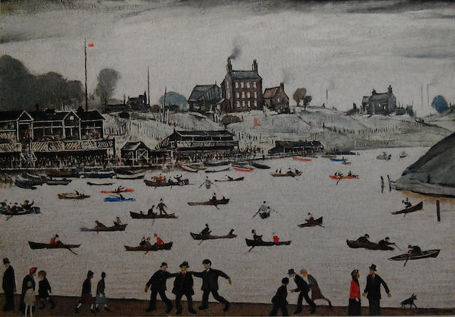 Laurence Stephen Lowry R.A. (British, 1887-1976) 'Crime Lake',