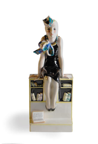 A Lenci figure 'La Studentessa' from a model by Helen Konig Scanivi Circa 1936