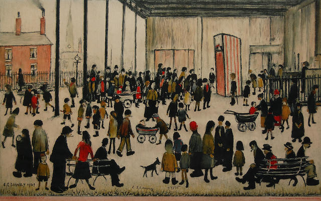 Laurence Stephen Lowry R.A. (British, 1887-1976) 'Punch & Judy',
