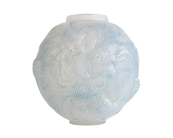 A Lalique frosted glass 'Formose' vase