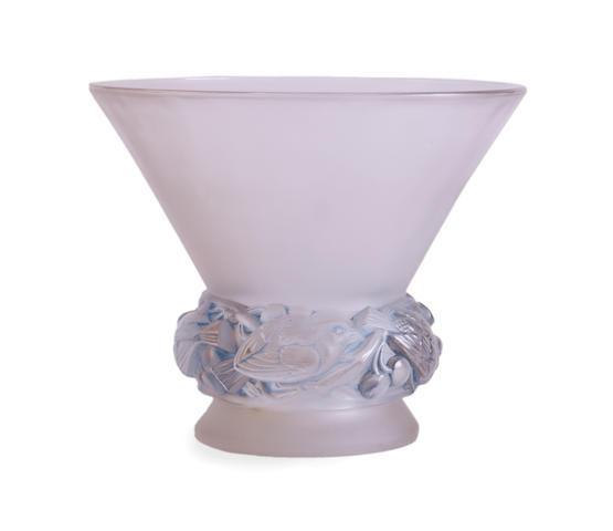 Lalique Pinsons Vase