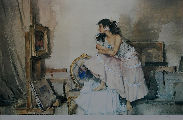 Sir William Russell Flint R.A., P.R.W.S. (British, 1880-1969) 'Model and Critic', numbered in pencil, colour print, together with another, 'Act II, Scene I', numbered in pencil, with blind stamp, colour print, (2),