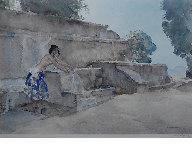Sir William Russell Flint R.A., P.R.W.S. (British, 1880-1969) 'Isabella of Lucenay',