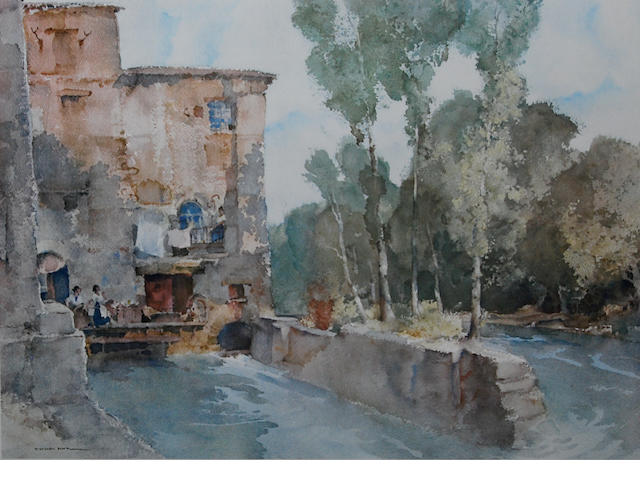 Sir William Russell Flint R.A., P.R.W.S. (British, 1880-1969) 'The Mill, Barbaste',