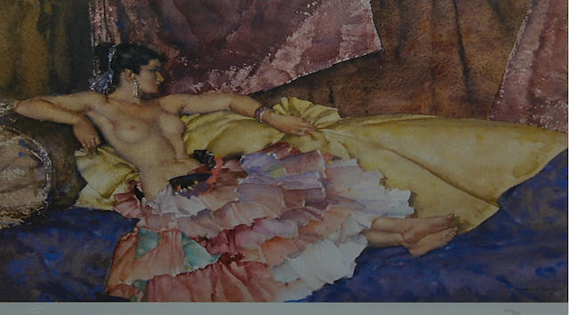 Sir William Russell Flint R.A., P.R.W.S. (British, 1880-1969) 'Model for Elegance',
