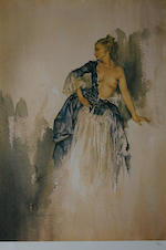 Sir William Russell Flint R.A., P.R.W.S. (British, 1880-1969) 'Carlotta on the Loire',