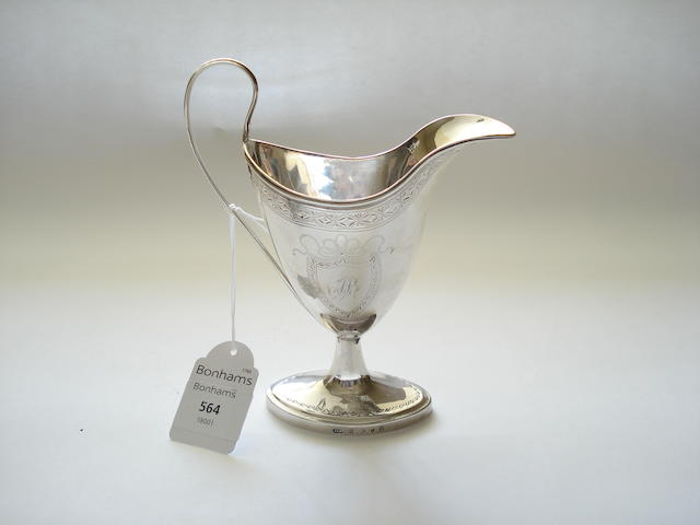 A George III cream jug By John Mackay, Edinburgh 1789