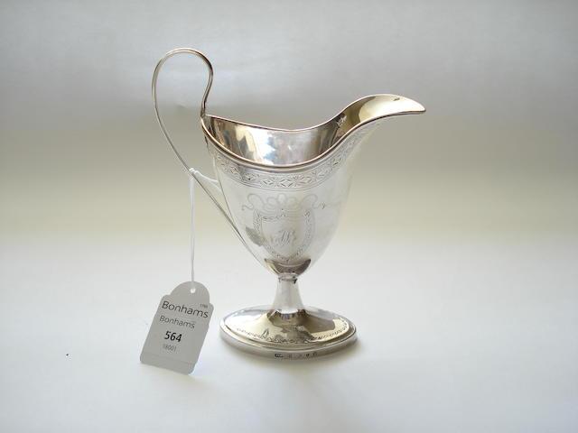 A George III cream jug By John Mackay, Edinburgh 1789