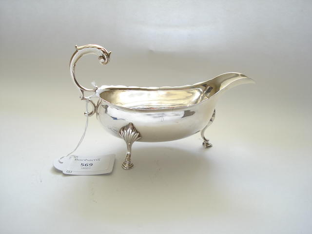 A George III sauceboat By Daniel Ker, Edinburgh 1767