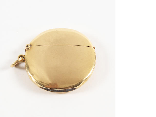 An 18 carat gold vesta case By William Frederick Wright, London, 1903,