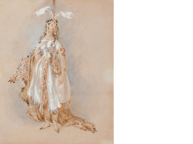 Circle of William Heath (British, 1795-1840) Lady in Peruvian costume