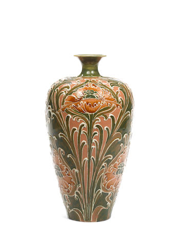 William Moorcroft  'Poppy' an early Florian Vase, circa 1900