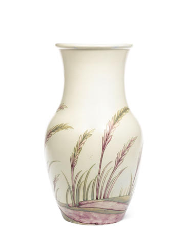 William Moorcroft 'Waving Corn' a large salt-glazed Vase, circa 1935