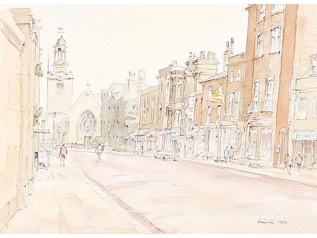 Hugh McKenzie (British 1909-2005) A quantity of unframed watercolours, pencil and pen and ink sketches of the UK (qty)