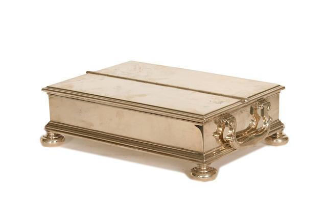 A silver-gilt inkstand, by J.W. Benson Ltd, London 1913,