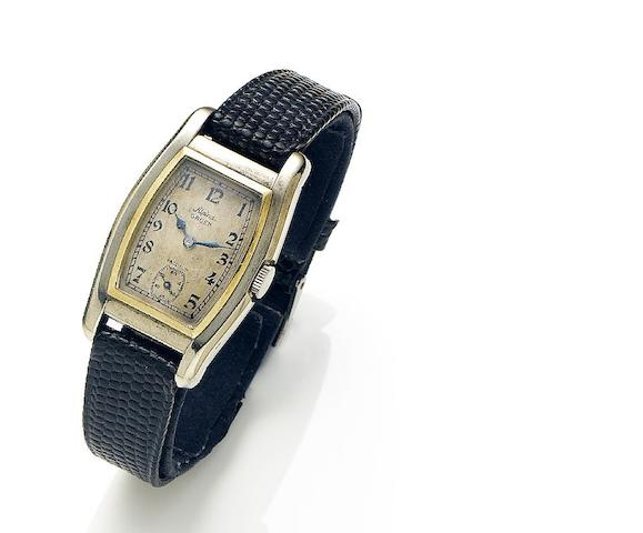 Alpina Gruen. A 14ct white and yellow gold manual wind wristwatch Precision, Circa 1930