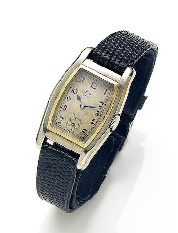 Alpina Gruen. A 14ct white and yellow gold manual wind wristwatch Precision, Circa 1930
