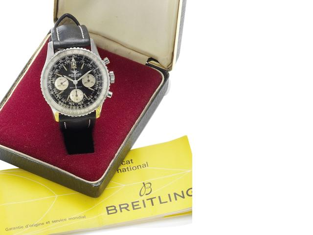 Breitling. A stainless steel manual wind chronograph wristwatch with original box and papers Navitimer, Reference 806, Case Number 1159791, Sold 30th April 1970