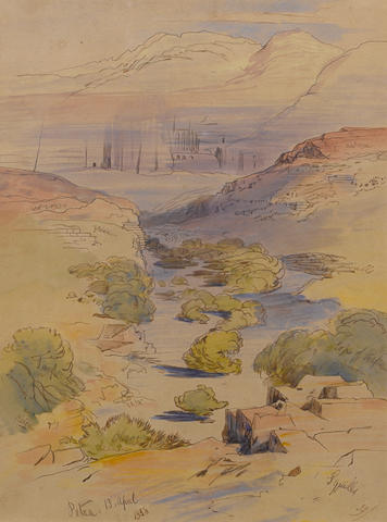 Edward Lear (British, 1812-1888) Petra, Jordan
