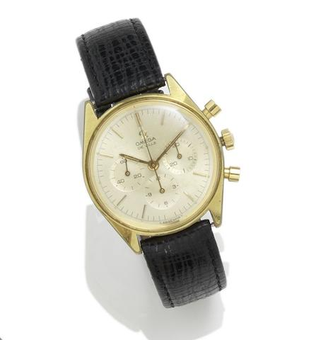 Omega. A gold plated manual wind chronograph wristwatch De Ville, Reference 28080562, Circa 1969