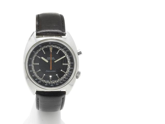 Omega. A stainless steel manual wind chronograph wristwatch Seamaster Chronostop, Reference 28432491, Circa 1969