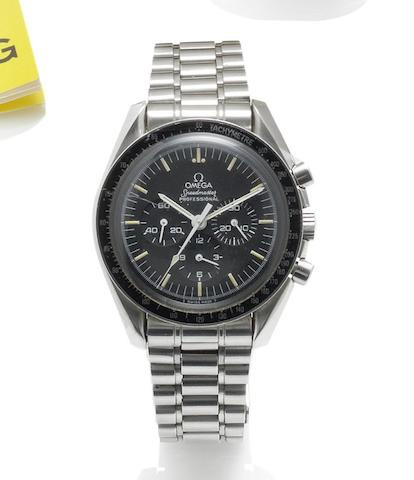 Omega. A stainless steel manual wind chronograph wristwatch Speedmaster, made 1985