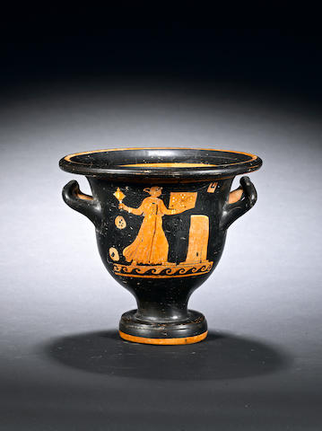 An Apulian red-figure bell krater
