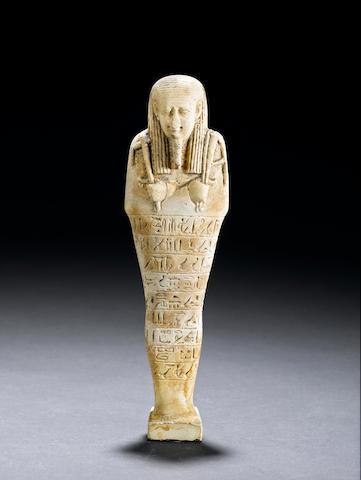 """Ushabti, Fayenza dinasty XXVI, 22cm high """"Neith Horudja son of Sedet"""""""