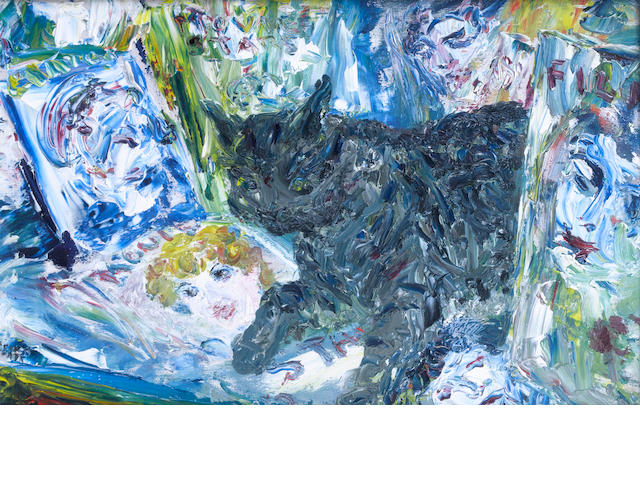 Jack Butler Yeats (Irish, 1871-1957) The Cat Among The Stars 23 x 36 cm. (9 x 14 in.)