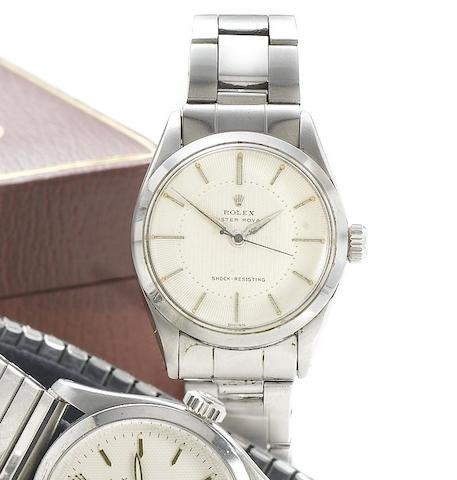 Rolex. A stainless steel manual wind wristwatchOyster Royal, Reference 6246, Case Number 234870, Circa 1943