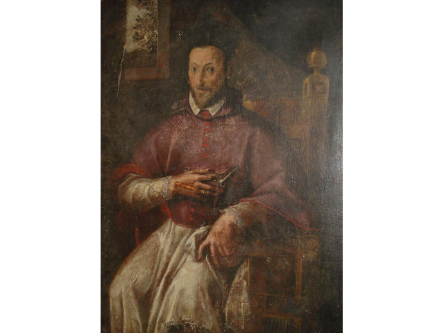 Roman School, 17th Century Portrait of a Cardinal, said to be Fernando Nino de Guevara, three-quarter-length, unframed