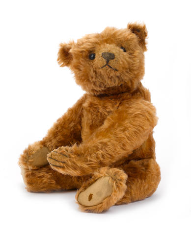 Fine and rare centre seam cinnamon Steiff Teddy bear, circa 1906