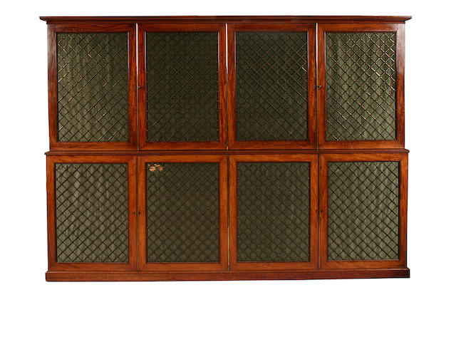 A Regency mahogany estate cabinet