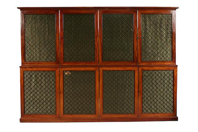 A Regency mahogany estate cabinet