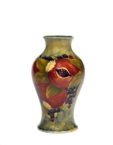 William Moorcroft 'Pomegranate' an early Vase, circa 1912-1913
